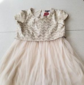 💚5/25 Gold mini formal dress